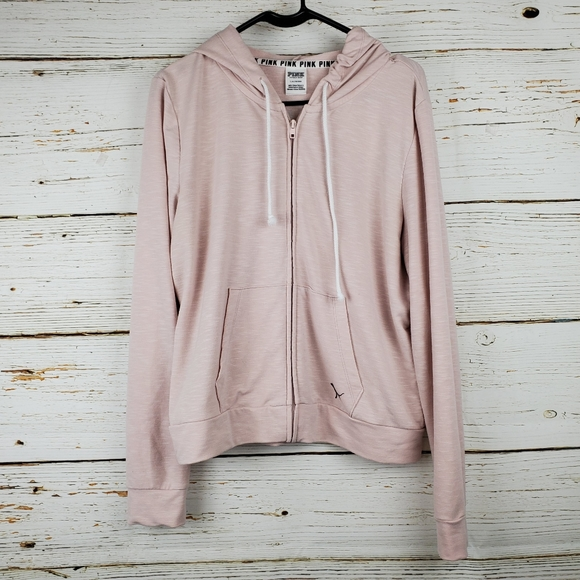 PINK Victoria's Secret Jackets & Blazers - PINK Victoria's Secret Knit Zip Front Jacket